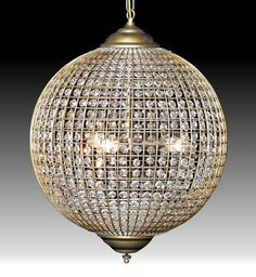 Cairo - Golden Globe Crystal Globe Chandelier is available in 3 sizes http://www.mirrormania.co.uk/home-decor/lighting/chandeliers/cairo-globe-crystal-chandelier.html?utm_content=buffer8ed96&utm_medium=social&utm_source=pinterest.com&utm_campaign=buffer | #Chandeliers #Decor