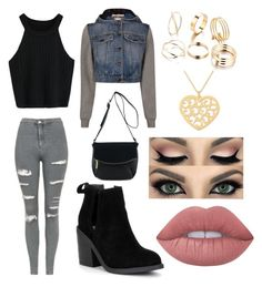 """Inspired by what I would wear"" by kaylahisawesome02 ❤ liked on Polyvore featuring Topshop, Steve Madden, Moschino, Lime Crime and NOVICA"