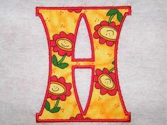 Applique Font 020 Machine Embroidery Monogram Font by SewFunFonts