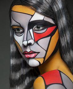 Art of Face par Alexander Khokhlov : Maquillage sur Photo Portraits (video) - MaxiTendance Maquillage Halloween, Halloween Makeup, Clown Makeup, Halloween Costumes, Alexander Khokhlov, Art Visage, Too Faced, Dark Fantasy Art, Makeup Transformation