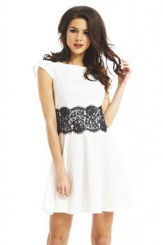 IVORY LACE WAIST DRESS | Shop Trendy Unique Cute Clothes & Accessories | ModMint shop this look: shopmodmint.com