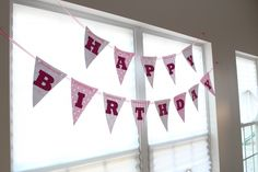 Birthday pennant banner tutorial