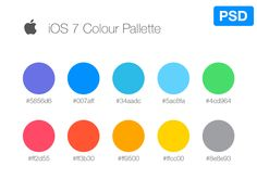 iOS7 Color Pallete by Jordi Manuel