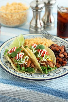 slow cooker pork tacos.  yum!