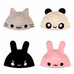 super kawaii hats. I want them all!
