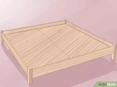 How to Build a Wooden Bed Frame. Do you have a rickety metal bed frame? Have you considered getting a wooden bed frame? It can add wonderful appeal to your room, and it. Wooden Bed Frame Diy, Wood Bed Frame Queen, Wooden Bed Base, Build Bed Frame, Making A Bed Frame, Diy Bed Frame, Wood Beds, Metal Beds, Homemade Beds