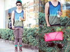 by David Guison Fashion 101, Mens Fashion, Forever 21 Tank Tops, Style Icons, David, Spring Summer, My Style, Outfits, Clothes