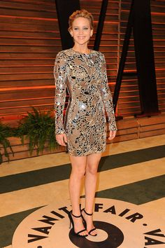 In Tom Ford at the Vanity Fair Oscar Party.   - ELLE.com