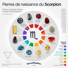 Pierres de naissance du Scorpion | #PierreChakra #PierreProtectrice #PierreZodiaque #PierreNaissance #PierreSigneAstrologique
