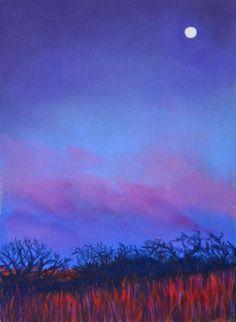 """Purple Twilight""  5"" x 7""  Soft Pastel on Sanded Paper"