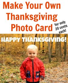 Photo Thanksgiving Card {Tutorial}