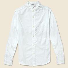 Band Collar Shirt - White