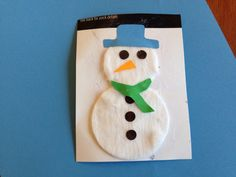 cotton pads snowman - Google Search