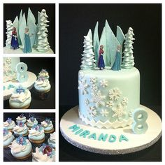Lucky Miranda celebrated her eighth birthday with a beautiful take on Elsa's ice castle. Image Source: Instagram user itsmarlene1022