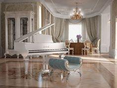Decorating, Interior Decor, Baby Grand Piano, Home decor The Piano, Dream Home Design, My Dream Home, House Design, Grand Piano Room, Baby Grand Pianos, Interior Decorating, Interior Design, Victorian Homes