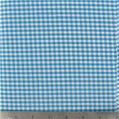 "GHM - 1/8"" Turquoise Gingham Check Fabric 