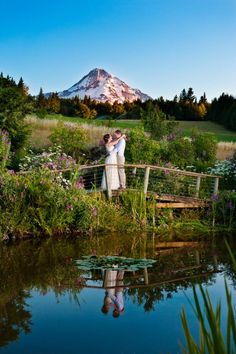 The Mt. Hood Bed and Breakfast is a beautiful venue and has this awesome view of Mt Hood. Just a short drive from Portland Oregon. This particular couple are friends of mine, and I was so happy to be part of their wedding day!