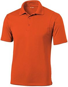 DRIEQUIPtm Mens TALL Moisture Wicking Micropique Golf PoloDeep OrangeXLT -- Check this awesome product by going to the link at the image.