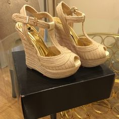 Shiekh Wedges Brand New never worn, still in box! Shiekh Shoes Wedges