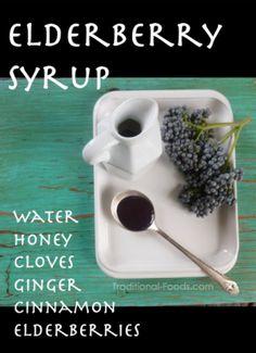 Elderberry Syrup Recipe @ Traditional-Foods.com