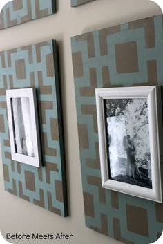Before Meets After: DIY stenciled frames from Royal Design Studio and Chalk Paint® decorative paint by Annie Sloan
