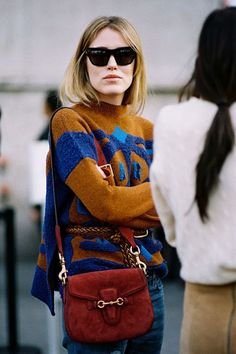 Bold color block sweater