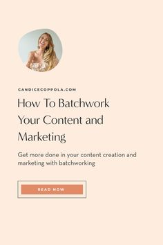 Have you thought about how to batchwork, but you're just not sure how to get started batchworking? Maybe you're asking, what is batchworking? Batchworking is how you can get more done in a shorter (promise!) period of time. You group similar and/or repetitious tasks together and do them all at once rather than one at a time. Batchworking is perfect for… Social media posts Blogging Podcasting Photographing your products Creating monthly graphics Business Launch, Business Marketing, Content Marketing, Online Marketing, Digital Marketing, Digital Strategy, Business Advice, Make More Money, Thinking Of You