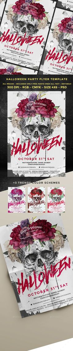 Chills and Thrills Halloween Party Flyer Halloween party flyer - zombie flyer template