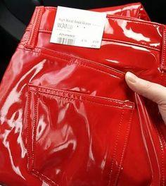 catherinetotale_26#topshop #highwaisted #vinylpants #vinylpants▪ #vinyl #latex #pvc #latexpants #pvcpants #redvinyl #redlatex #redpvc