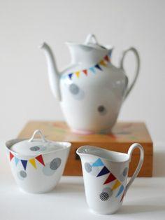 Birthday teapot etc.