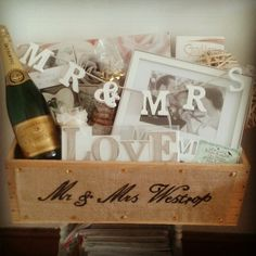 Luxury wedding hamper.  www.chic-dreams.co.uk