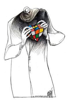 En el amor como Rubik Cube Puzzle, Don Juan, Geek Art, Mosaic Art, Wallpaper S, Cool Art, Illustration Art, Geek Stuff, Artsy