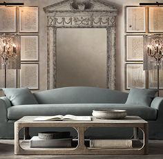 Martens Rectangular Coffee Table | Restoration Hardware