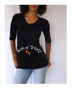 I so want this to wear to my baby shower!!!!/maternity-halloween-shirt-kick-or-treat