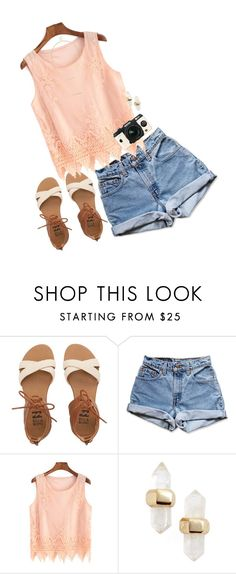 """""""Say cheese"""" by classycathleen ❤ liked on Polyvore featuring Billabong, Levi's, Pentax, Kendra Scott and Sole Society"""