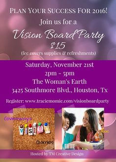 Vision Board Party Invitation Party invitations Board and Etsy