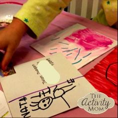 DIY Painted Postcards - Your kids can send love anywhere this Valentines Day