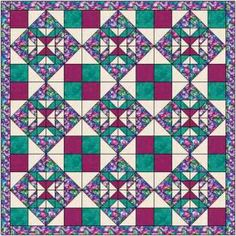 The Good Enough quilt is named for the block, not my thoughts on the quilt!  Easy but eyecatching pattern using squares and hst's only.