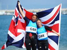Britain's Hannah Mills and Saskia Clark claimed silver in the women's 470 c