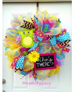 Who's There? Owl Wreath from CraftOutlet.com Photo Contest