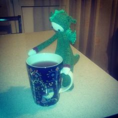 DIRK THE dragon made by ashtree_t / crochet pattern by lalylala