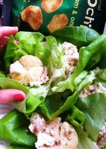 #popchips skinny tuna lettuce wraps by #quickiechick