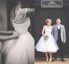 Vintage 1950 s Style Polka Pointillé Robe De Mariée Courte Thé Longueur Little White Robes 2016 Robes de Mariée Plage De Mariée robes