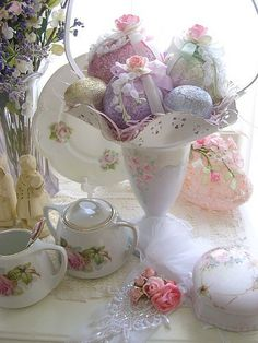 Pretty Easter tea