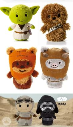 Know a friend or family member with a birthday coming up? Stars Wars™ fans young and old will delight in these soft, furry itty bittys® of their beloved characters. Pick up your favorite character or collect all of the perfectly-sized companions from the itty bitty® plush collection.