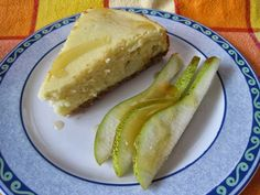 Cheesecake di ricotta e pere