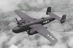 The Doolittle Raid of April 18, 1942 was the first U.S. air raid to strike the Japanese home islands during WWII. 16 U.S. Army Air Forces bombers were launched from the aircraft carrier into combat. (USS Hornet CV-8)