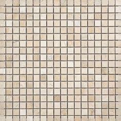 "Crema Marfil 0.625"" x 0.625"" Stone Mosaic Tile Polished"