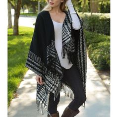 """Pied Beauty"" Poncho Wrap Cardigan Loose poncho wrap cardigan. Available in black and ivory. This listing is for the IVORY. Brand new with tags. One size fits most (XS-XL). ABSOLUTELY NO TRADES. Bare Anthology Jackets & Coats"