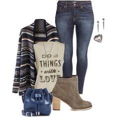 """my plus size casual texas fall/winter casual look"" by kristie-payne on Polyvore"